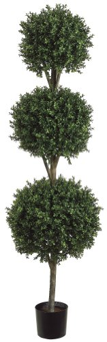 - Allstate Floral & Craft 1 6'TRI Ball Boxwood TOP.(P) GRTT Greenery, 72-in, Two Tone Green