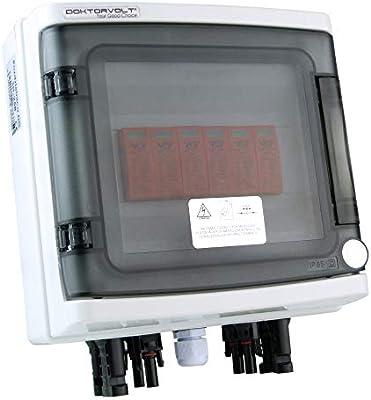 Doktorvolt 9474 - Caja de conexión solar fotovoltaica (600 V CC, 8 cuerdas, protección contra sobretensión, tipo 258): Amazon.es: Industria, empresas y ciencia