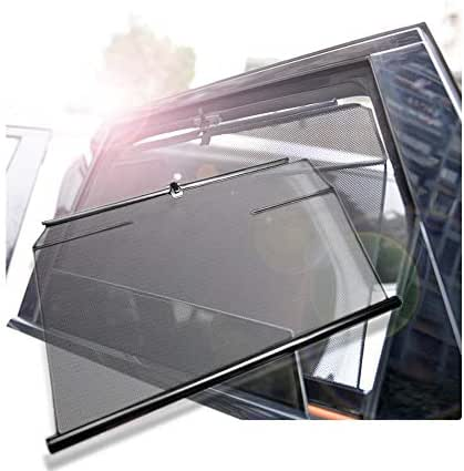 2Pcs Car Sunshade, Automatic Lift Side Windshield Sun Visor, Suitable for Children Adults, Seasons Universal/Breathable/Anti-UV/Privacy Protection, for Ford F-150 2017-2019 Side Rear Window