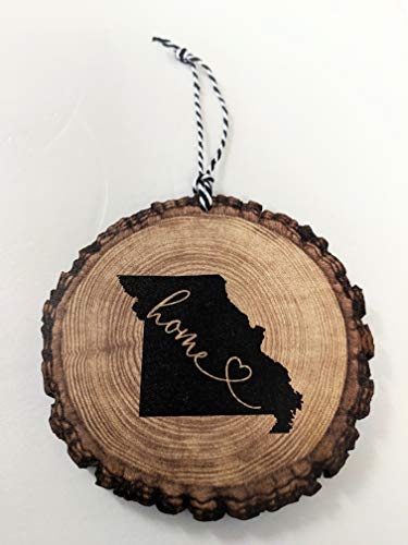 Missouri Christmas Ornament State Ornament Rustic Ornament Wood Slice Ornament Country Christmas -