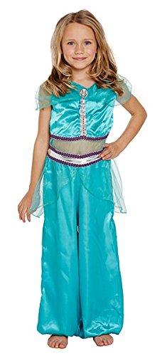 Arabian Princess Girls Fancy Dress Jasmin Desert Aladdin Kids Childens Costume (4-6 years) (Aladdin Jasmin)