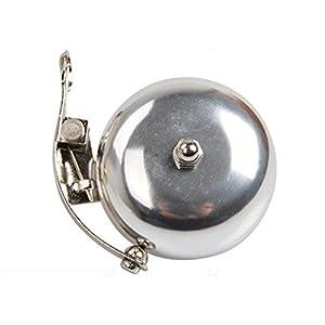 MeanHoo Metal Retro Loud Warning Sound Bicycle Bell Handlebar Safety Metal Ring Environmental Bike Bell Cycling Horn (Silver)