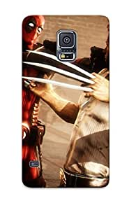 Ejnjht-2961-tipondp Special Design Back Heroes Comics Deadpool Hero Wolverine Hero Warrior Phone Case Cover For Galaxy S5