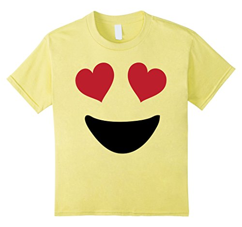 Kids Emoji Shirt With Heart Eyes and A Big Smile