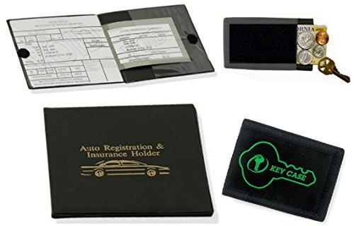 value-pack-1-auto-car-registration-insurance-holder-wallet-soft-hide-a-key-holder-with-self-adhesive