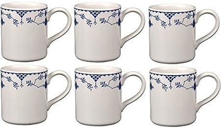 Johnson Bros Blue Denmark, Set of 6 Mugs (SECOND QUALITY)*: Amazon ...