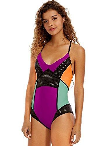 Body Glove Women's Bounce Sia One-Piece Swimsuit, Mangolia, Small