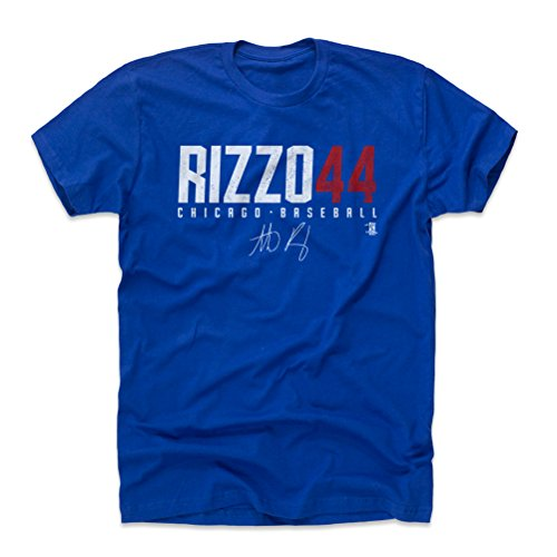 500 LEVEL Anthony Rizzo Cotton Shirt XXX-Large Royal Blue - Chicago Baseball Men's Apparel - Anthony Rizzo Rizzo44 W WHT (Chicago Gray Shirt Cubs)