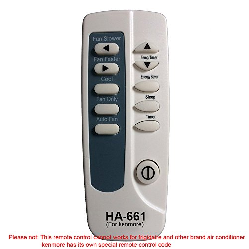 HA-661 Replaces kenmore Air Conditioner Remote Control 5304476246 works for 253.70251011 253.70251012 253.70251013 253.70251014 253.70251015 253.70251016 by Generic