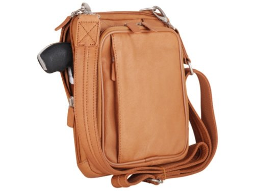 GTM Gun Tote'n Mamas Concealed Carry Raven Shoulder Pouch, Tan, Small by Sports Service