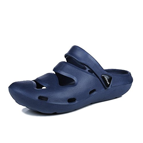 Sandals for Men, Men's Mules Solid Flat Heel Hollow Solid Mules Color Closed Toe Sandals up to Size 10 MUS (Color : Blue,... Parent B07DSGQLDR c24eca