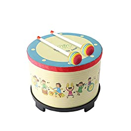 Floor Tom Drum 8 inch Gathering Club Carnival Colorful Percussion Instrument with 2 Mallets Music Drum toys for Child…