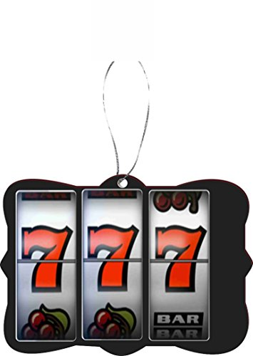 Rikki Knight RKWS-SQORN-252 Slot Machine Lucky Seven Car Rear View Mirror Hanger Christmas Tree (Slot Machine Ornament)