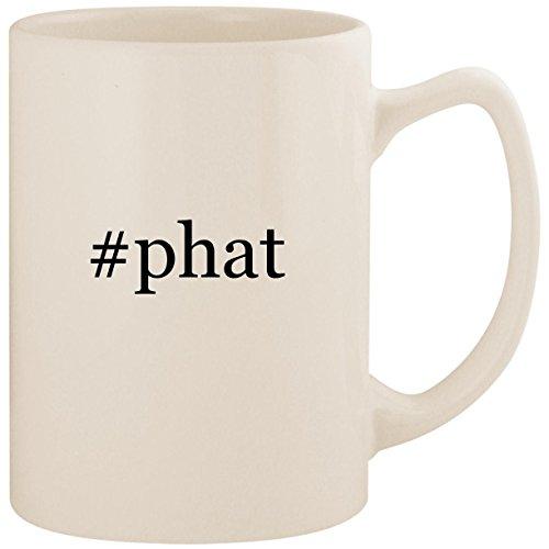 - #phat - White Hashtag 14oz Ceramic Statesman Coffee Mug Cup