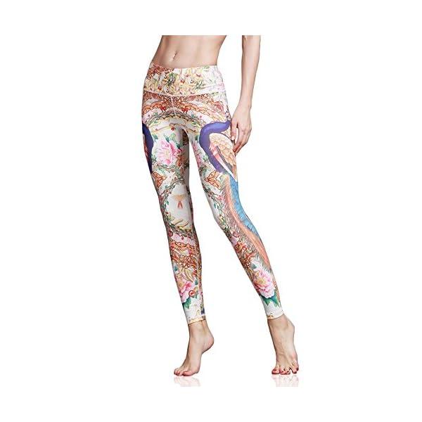 Doris Boutique FU – Leggings Imprimé Yoga Leggings Extensibles Pantalons à Motifs