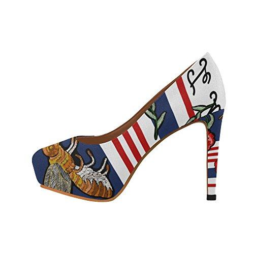 D-Story Flamingo Womens Sexy Stiletto High Heel Pumps Shoes Multicolored22 C7bNRk4lr