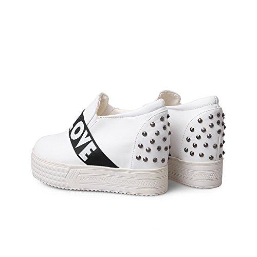 BalaMasa donna colori assortiti elastico imitato in pelle pumps-shoes, Bianco (White), 38