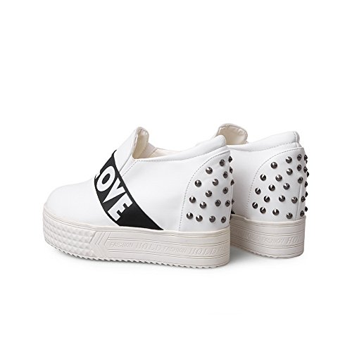 pumps élastique balamasa assorties Blanc imitation cuir shoes en Mesdames couleurs qBB0xwap