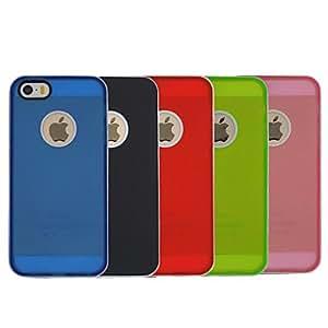 TL Cubierta Posterior - Color S¨®lido - para iPhone 5/iPhone 5S (Policarbonato/TPU )(Rosado)