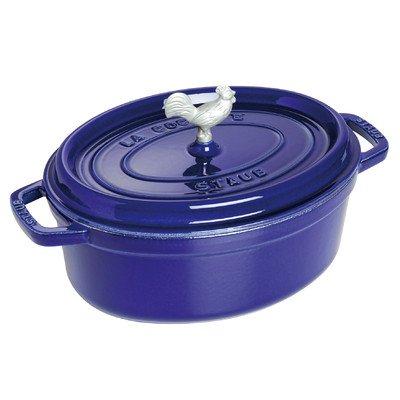Staub Coq au Vin Cocotte, Dark Blue, 5.75 qt. - Dark Blue