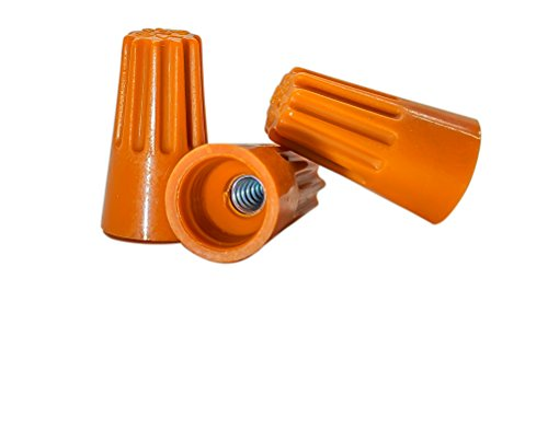 100 PCS Orange Wire Connector, P3 Type Easy Twist-On Ribbed Cap - UL and CSA Listed - Twist Wire Connectors