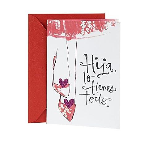 Amazon.com: Hallmark – Tarjeta de Firma Día de San Valentín ...