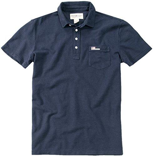 DENIM&SUPPLY Herren Polo-Shirt Polo-Shirt Baumwolle T-Shirt Unifarben, Größe: S, Farbe: Blau