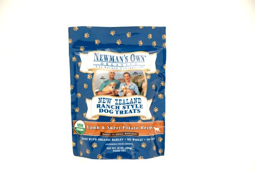 Newman's Own Organics Lamb and Sweet Potato New Zealand Ranch Style Dog Treats, 10-Ounce (Pack of 6), My Pet Supplies