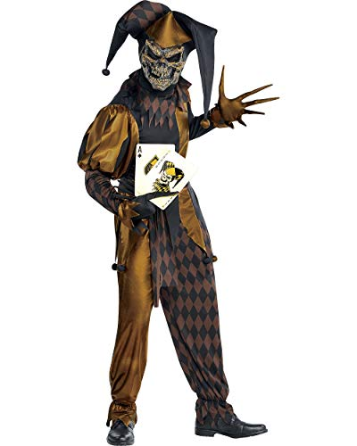 AMSCAN Jokers Wild Skeleton Halloween Costume for Men, Standard, with Included Accessories]()
