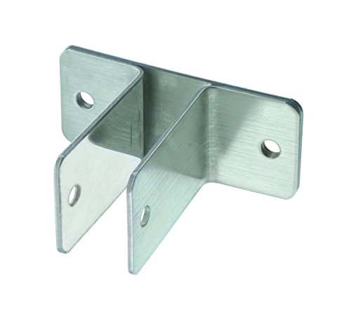 Harris Hardware 11629 Two Ear Stamped Stainless Steel Wall Bracket 3/4-Inch Panel Thickness 2-1/2-Inch Bracket Height 3-5/8-Inch Base Length 1-1/2-Inch Base Width ()