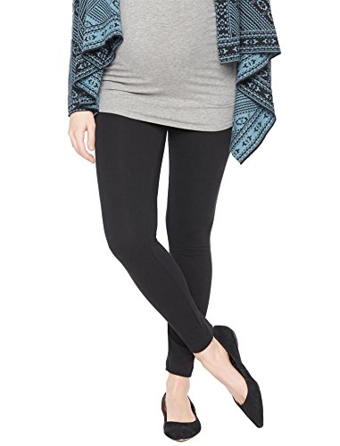 Motherhood Secret Fit Belly Maternity Leggings,Black,Medium