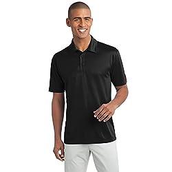 Mens Big & Tall Short Sleeve Moisture Wicking Silk Touch Polo Shirt, LT, Pink Raspberry