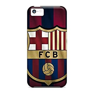 New RitaniaJenkava Super Strong Barcelona Fc Sports Tpu Cases Covers For Iphone 5c