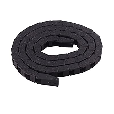 Machine Tool 7 x 7mm Semi Enclosed Type Plastic Towline Cable Carrier Drag Chain Nested for CNC Machine Tools, Machinery Black Ted Lele (7mm x 7mm): Industrial & Scientific