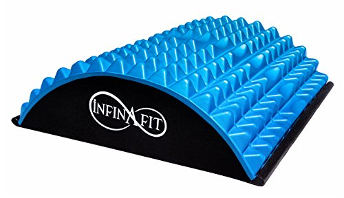 Infinafit Lumbar Back Stretcher with Acupressure Points - Helps to Relieve Back Pain Related to Muscle Tension, Excessive Flexion and Poor Spinal (Lumbar Stretcher)