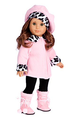 DreamWorld Collections - Elegance - 4 Piece Outfit Fits 18 covid 19 (Fleece Doll Hat coronavirus)