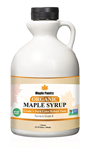 (Maple Pantry Pure Organic maple syrup 32 oz Grade A Dark Robust Formerly Grade B)