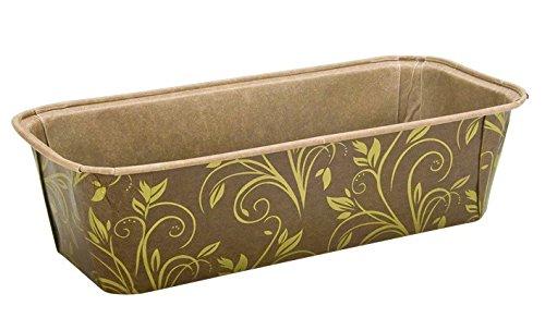 Einweg Kastenform Mini, aus Papier, 6er-Set, mit Rezept, braun/gold, 17,5 x 7 x 5 cm