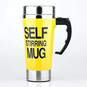 Bebetter Self Mixing Coffee Mug Cup 17oz (Yellow)