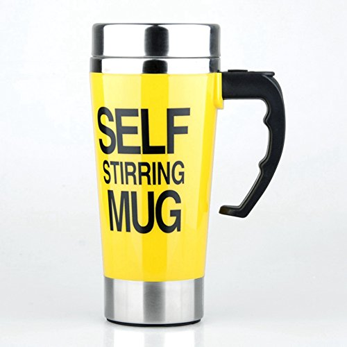Self Stirring Coffee Mug(Yellow) - 8