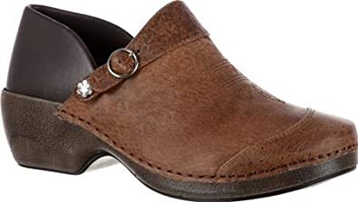 484eb2cd79b21 Image Unavailable. Image not available for. Color: Rocky 4EurSole Inspire  Me Ladies' Western Embellished Leather 3 in 1 Clog