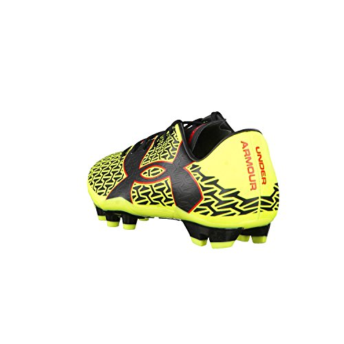 Under Armour Ua Cf Force 2.0 Fg, Botas de Fútbol para Hombre HIGH-VIS YELLOW/ROCKET RED/BLACK