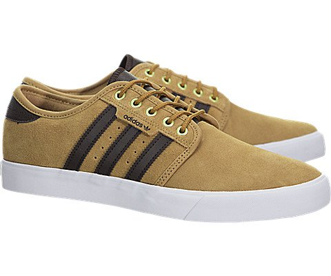 New Adidas Men's Seeley Shoe Lace Pu Brown