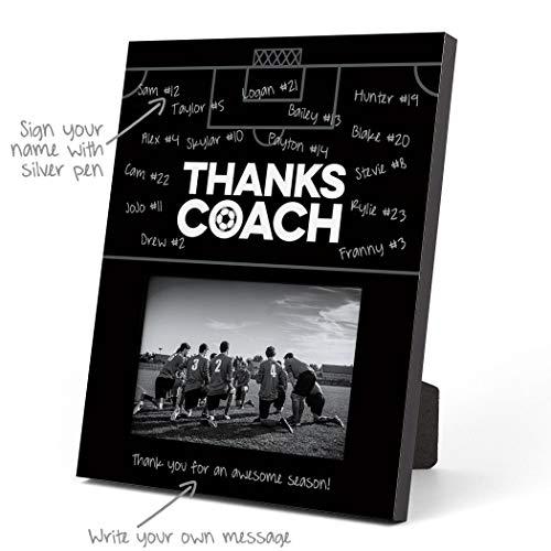 ChalkTalkSPORTS Soccer Photo Frame   Coach (Autograph) Picture Frame   Black