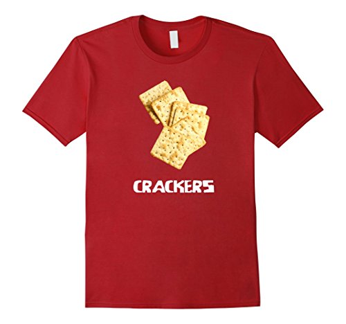Silly Couple Halloween Costumes (Mens Crackers Couple Costume T Shirt - Cheese and Crackers 3XL Cranberry)