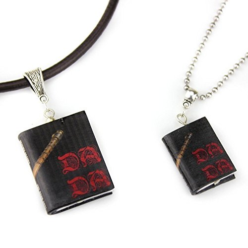 [D.A.D.A. Defense Against The Dark Arts Polymer Clay Mini Book Pendant Necklace Unisex from The School Of Magic & Wizardry Collection by Book] (Quick Costume Ideas For Work)