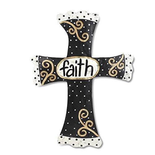 - DEMDACO Silvestri Faith Cross Door Hanger, Black/Gold