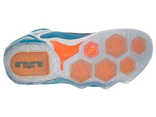 Nike Lebron Xii Elit Mens Basketskor Universitet Blå / Svart-vit-total Apelsin