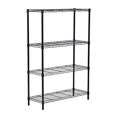 TRINITY 4-Tier NSF Wire Shelving Rack, 36 by 14 by 54-Inch, Bronze - NSF certified Dark bronze powder coat Weight capacity on feet levelers (evenly distributed): 350 lbs. per shelf - entryway-furniture-decor, entryway-laundry-room, coat-racks - 41YYF1ABfgL. SS400  -