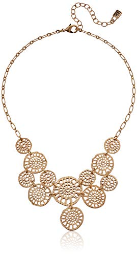 - Chaps Women's Gold Large Frontal Necklace